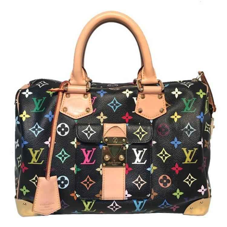 Limited Edition Louis Vuitton Black Monogram Murkami Speedy