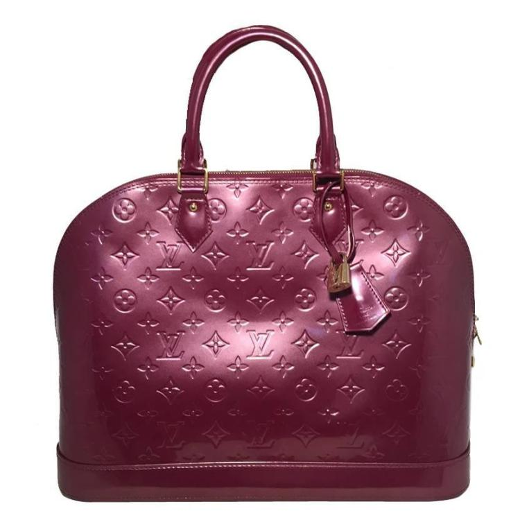 Louis Vuitton Purple Vernis Monogram Alma Handbag