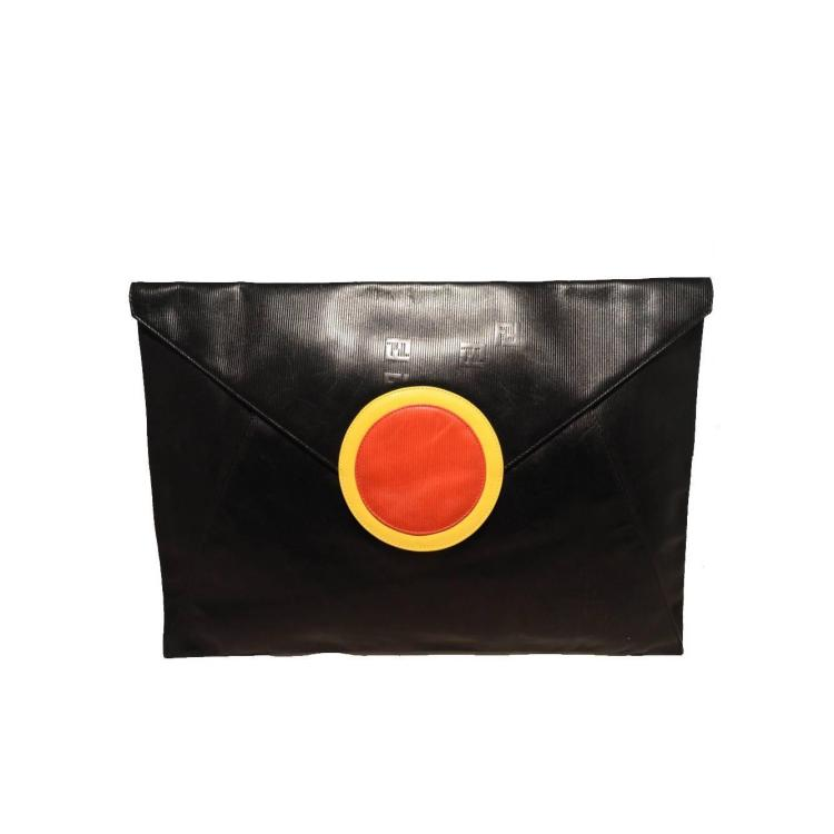 Fendi Fabulous Vintage Oversize Black Envelope Clutch-Collectors Item