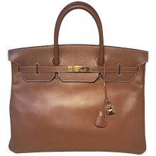 GORGEOUS Hermes Tan Gold 40cm Veau Graine Leather Birkin Bag