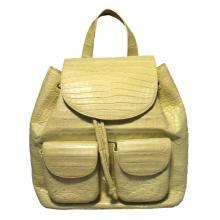 Nancy Gonzalez Yellow Crocodile Leather Backpack