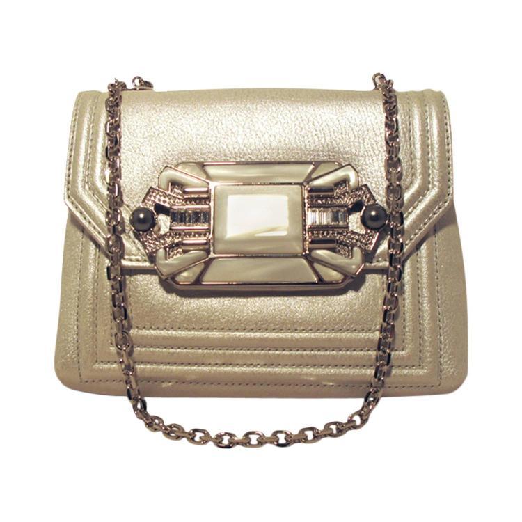 Judith Leiber Shimmery Leather Embellished Evening Bag