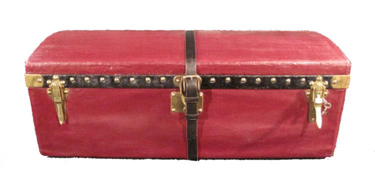Louis Vuitton Maroon Vuittonite Cabin Trunk c1900