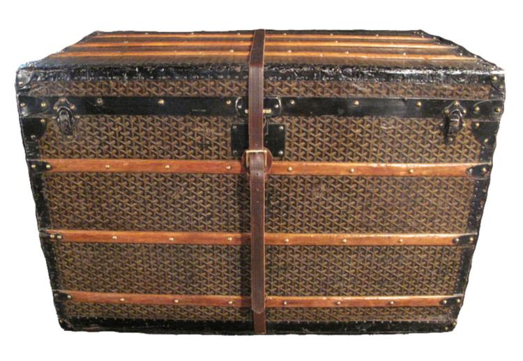 Goyard Steamer Trunk with Four Trays ca. 1900