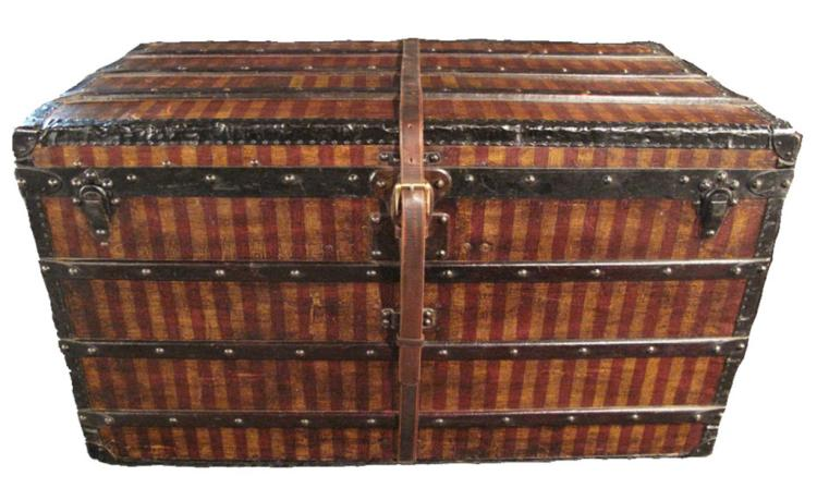 Louis Vuitton Striped Canvas Steamer Trunk c.1880