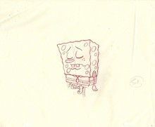 ORIGINAL PRODUCTION DRAWING FROM THE 1ST SEASON OF SPONGEBOB SQUAREPANTS 1999