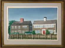 "Marshall DuBock Watercolor ""Lobster Pot Gallery"", Nantucket"
