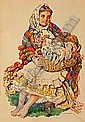 UZIEMBlO Henryk (1879-1949) NA JARMARK, przed 1944 Akwarela, papier; 49 x 34,5 (w Swietle passe-partout) Sygnowany p. d.: HENRYK UZIEMBlO Na, Henryk Uziembło, Click for value
