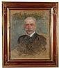 BOZNANSKA Olga (1865 - 1940) PORTRET MEZCZYZNY, 1900-1905 Olej, tektura; 74 x 60,5 cm Sygnowany p. d: Olga BoznaNska, Olga Boznanska, Click for value