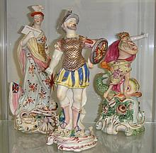 19th century Derby figures of Neptune Britannia