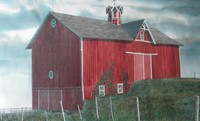 Marshall Dubock (born 1943) Big Red, watercolor, 23 x 38