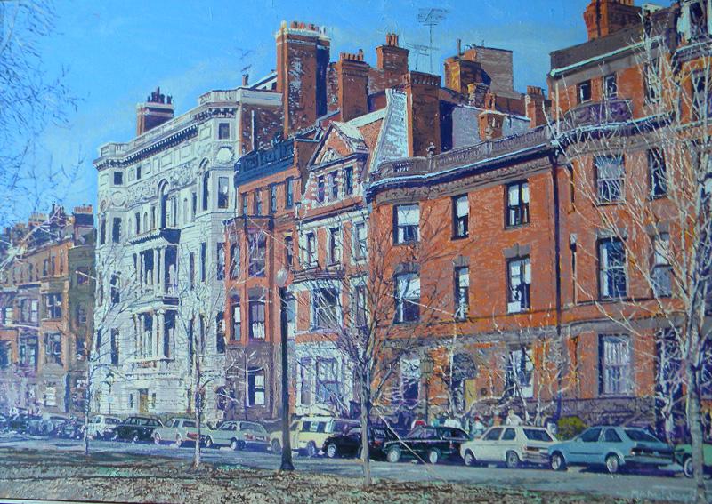 Michael  Joseph (born 1945), Chimnies - Boston, oil on canvas, 30.375 x 42.5