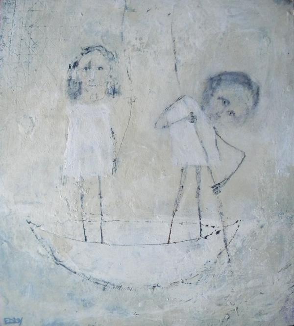 David  Eddy (born 1949), Pole, oil on wood, 19 x 17