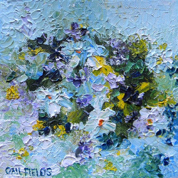 Gail  Fields (contemp), Ptown Garden #7, oil on canvas, 6 x 6