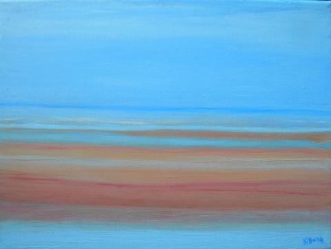 Kathleen  Dunn  (born 1960)  Sandbar, oil on canvas