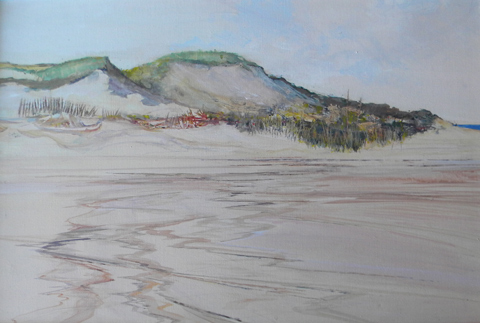 Harvey  Dodd  (died 2011), Sand Dunes, acrylic on canvas