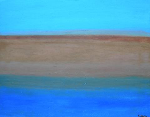 Kathleen  Dunn: (born 1960) oil on canvas
