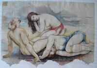 signed L'Engle (William): (1884-1957) watercolor