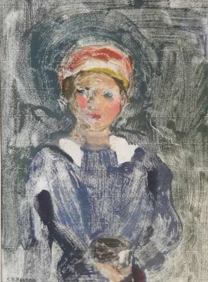 Evelin B. Bourne: (1892-?) mono print