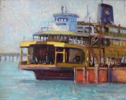 Michael E. Davis: (born 1945) oil on board