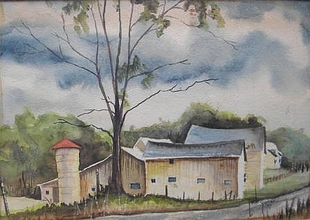 Jack  Garver, (born 1921) , watercolor