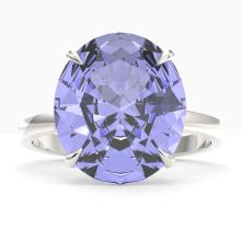 9 CTW Tanzanite Designer Solitaire Engagment Ring 18K Gold - REF-292A2N - 22123