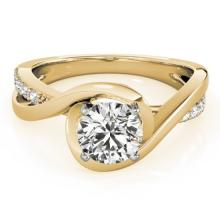0.65 CTW Certified VS/SI Diamond Solitaire Ring 14K Gold - REF-109M3F - 25300