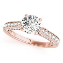 1.1 CTW Certified VS/SI Diamond Solitaire Ring 14K Rose Gold - REF-130F5M - 25368