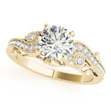 1 CTW Certified VS/SI Diamond Solitaire Antique Ring 14K Gold - REF-176A7N - 25258