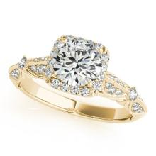 1.36 CTW Certified VS/SI Diamond Solitaire Halo Ring 14K Gold - REF-367H6W - 24377