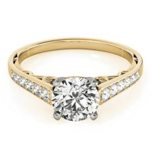 0.85 CTW Certified VS/SI Diamond Solitaire Ring 14K Gold - REF-100H2W - 25360