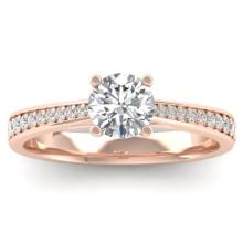 1.01 CTW Certified VS/SI Diamond Solitaire Art Deco Ring 18K Gold - REF-189R8K - 32640