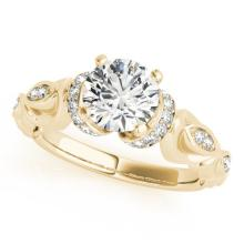 0.95 CTW Certified VS/SI Diamond Solitaire Antique Ring 14K Gold - REF-181R3K - 25156