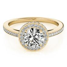1.55 CTW Certified VS/SI Diamond Solitaire Halo Ring 14K Gold - REF-386A2N - 24772