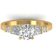1.69 CTW Certified VS/SI Diamond Solitaire Ring 18K Size 7 Gold - REF-408R2K - 32653