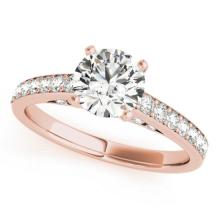 1.5 CTW Certified VS/SI Diamond Solitaire Ring 14K Rose Gold - REF-365N3A - 25317