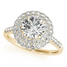 1.25 CTW Certified VS/SI Diamond Solitaire Halo Ring 14K Gold - REF-137A3N - 24299
