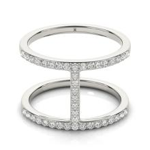 0.50 CTW Certified VS/SI Diamond Fashion Ring 14K White Gold - REF-62R7K - 26105