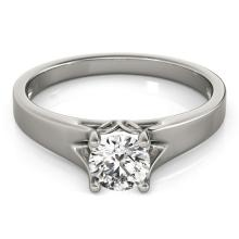 0.75 CTW Certified VS/SI Diamond Solitaire Ring 14K Gold - REF-167X3Y - 25637