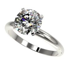 2.50 CTW Certified H-SI/I Quality Diamond Solitaire Engagment Ring Gold - REF-837H6W - 32942