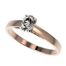 0.50 CTW Certified VS/SI Quality Oval Diamond Engagment Ring Gold - REF-77H6W - 32963