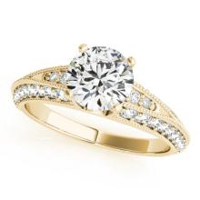 1.33 CTW Certified VS/SI Diamond Solitaire Antique Ring 14K Gold - REF-194K7R - 25108