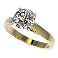 2.05 CTW Certified H-SI/I Quality Diamond Solitaire Engagment Ring Gold - REF-578W5H - 36554