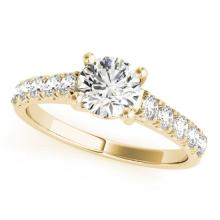 2.1 CTW Certified VS/SI Diamond Solitaire Ring 14K Yellow Gold - REF-578T9M - 25984