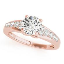 1.4 CTW Certified VS/SI Diamond Solitaire Ring 14K Rose Gold - REF-363A3X - 25458