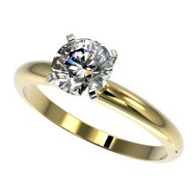 1.25 CTW Certified H-SI/I Quality Diamond Solitaire Engagement Ring 10K Yellow Gold - REF-290Y9K - 32905