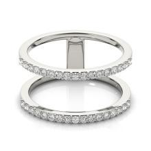 0.90 CTW Certified VS/SI Diamond Fashion Ring 14K White Gold - REF-83H5A - 26140