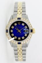 Rolex Men's Stainless Steel, QuickSet, Diam Dial & Diam/Sapphire Bezel - REF#490W9Z
