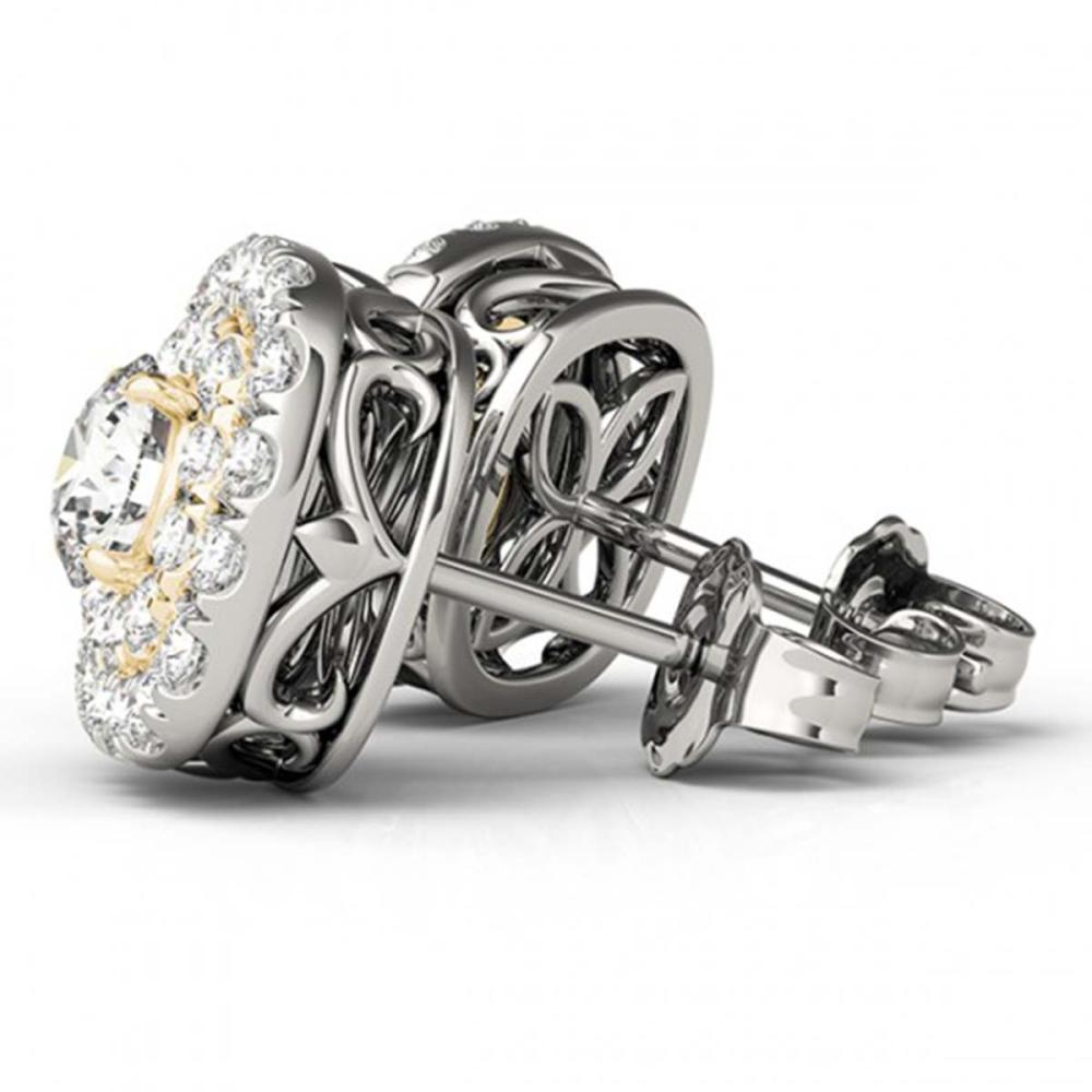 1 ctw Diamond Solitaire VS/SI Halo 14K White & Yellow Gold - REF-101W8H - SKU:29221