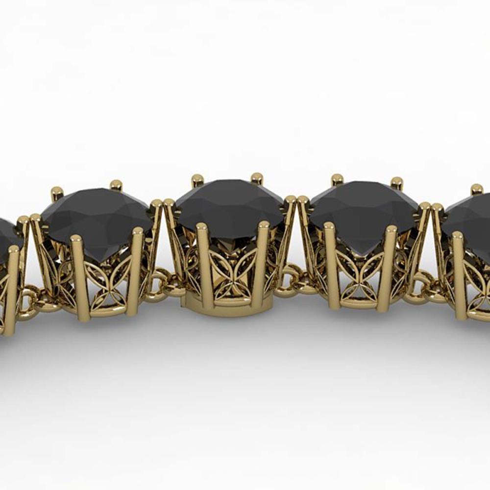36 ctw Black VS Diamond Necklace 14K Yellow Gold - REF-780W2H - SKU:29752